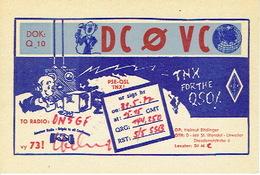 QSL - GERMANY - DC0VC - HELMUT BITDINGER - ST. WENDEL - URWEILER - 1977 - Radio-amateur