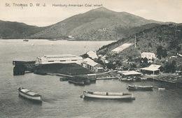 St Thomas Danish West Indies  Hamburg American Coal Wharf - Vierges (Iles), Amér.