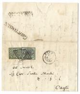 DA GROTTAMMARE A CAGLI - 15.5.1857. - Stato Pontificio