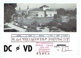 QSL - GERMANY - DC0VD - WINFRIED SCHREINER - MAINZ - 1977 - Radio-amateur