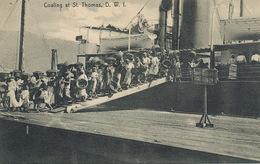 St Thomas Danish West Indies  Coaling  Women Loading Coal. Esclavage . Slavery . Edit Lightbourn's. Shipping - Vierges (Iles), Amér.