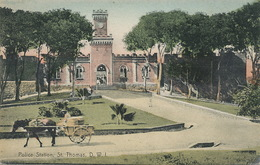 St Thomas Danish West Indies  . Police Station Hand Colored  Edit Lightbourn's. - Vierges (Iles), Amér.