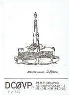 QSL - GERMANY - DC0VP - PETER BRAUNER - SAARBRÜCKEN - 1972 - Radio-amateur