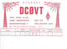 QSL - GERMANY - DC0VT - KARL HEINZ ALLES - OBERKIRCHEN - 1974 - Radio-amateur