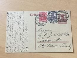 K8 Deutsches Reich Ganzsache Stationery Entier Postal P 116I Von Ettlingen In Die Schweiz - Stamped Stationery