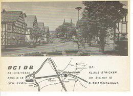 QSL - GERMANY - DC1DB - KLAUS STRICKER - HILCHENBACH  - 1978 - Radio Amatoriale
