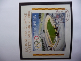 (OLYM1) ALBANIA 1968 Olympic Games Perforated Block Used Michel Block 33A - Zomer 1968: Mexico-City
