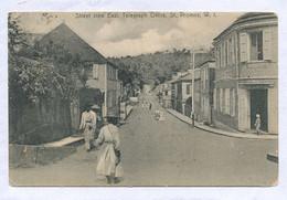 St Thomas Danish West Indies  Street View East, Telegraph Office Edit Lightbourn's . P. Used 1907 To Rio De Janeiro - Vierges (Iles), Amér.