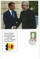 FRANCE-ANDORRE.Rencontre Des 2 Co-Princes D'Andorre: L'Évêque D'Urgell Joan Enric Vives & E.Macron,Septembre 2019 - Réceptions