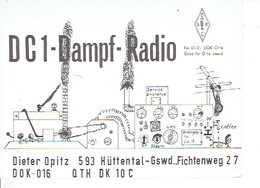 QSL - GERMANY - DC1DR - DIETER OPITZ - HÜTTENTAL - 1975 - Radio-amateur