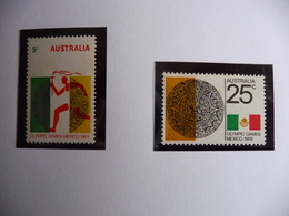 (OLYM1)  AUSTRALIA 2 STAMPS MHN 1968 OLYMPIC GAMES. - Zomer 1968: Mexico-City