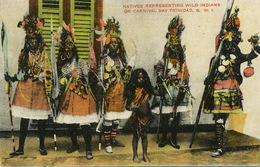 Natives Representing Wild Indians On Carnival Day Trinidad Carnaval Edit Waterman - Trinidad