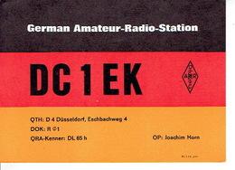 QSL - GERMANY - DC1EK - JOACHIM HORN - DUSSELDORF - 1971 - Radio-amateur