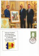 FRANCE-ANDORRE.Visite Du Premier Ministre D'Andorre Au Président Macron Au Palais De L'Elysée, Au Dos Napoléon 1 Er - Andorra Francese