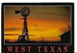 CP-Etats Unis -Texas-Lubbock-West Texas Sunset (écrite En 1989) - Corpus Christi