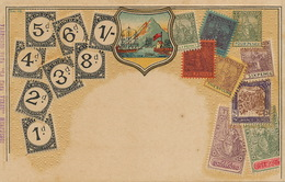 Litho Philatelic Embossed Color Card Trinidad . Stamps . Coat Of Arms - Trinidad