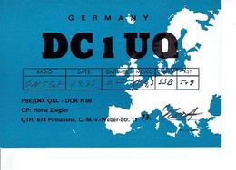 QSL - GERMANY - DC1UQ - HORST ZIEGLER - PIRMASENS - 1975 - Radio Amatoriale