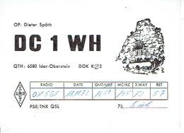 QSL - GERMANY - DC1WH - DIETER SPÄTH - IDAR-OBERSTEIN - 1973 - Radio-amateur