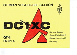 QSL - GERMANY - DC1XC - HARTMUT JESSEN - HAMBURG - 1978 - Radio Amatoriale