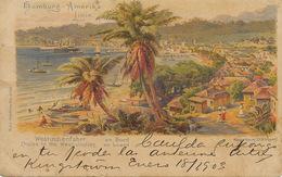 Litho Color St. Kingstown , St Vincent Hamburg Amerika Linie 1903 . P. Used Stamped - Saint-Vincent-et-les Grenadines