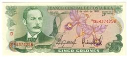 COSTA RICA5COLONES02/04/1986P236UNC.CV. - Costa Rica