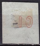 GREECE 1872-76 Large Hermes Head Meshed Paper Issue 10 L Orange Inverted 0 In CN Vl. 54 I - Usati