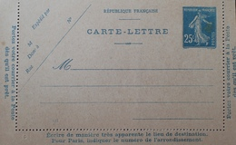 R1189/530 - ENTIER POSTAL - TYPE SEMEUSE CAMEE - CARTE LETTRE VIERGE - N°140-CL2 (411) - Entiers Postaux