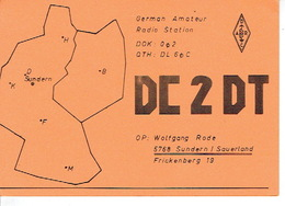 QSL - GERMANY - DC2DT - WOLFGANG RODE - SUNDERN/SAUERLAND - 1974 - Radio-amateur