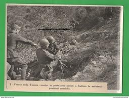 Mortaio Brandt In Tunisia Old Photo Tunisia 1941 Artiglieri Elmetto M33 - Guerre, Militaire