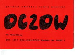 QSL - GERMANY - DC2DW - ALFRED EBBERG - DEILINGHOFEN - 1974 - Radio Amateur