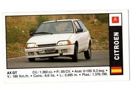 SPAIN ANTIGUO CROMO OLD COLLECTIBLE CARD RARE CITROEN CITROËN AX GT ESPAGNE VOITURE CAR AUTOMÓVIL COCHE AUTO, COCHES 91 - Cromos