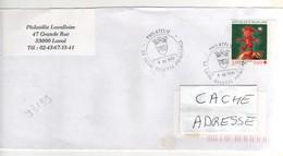 ": Beau Timbre , Stamp Yvert N° 3199 "" Croix Rouge "" Sur Lettre , Cover , Mail Du 08/12/1999 - France"