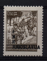 29. Yugoslavia 1949 0.50d Partisans, With Misplaced Overprint MNH - 1945-1992 Repubblica Socialista Federale Di Jugoslavia