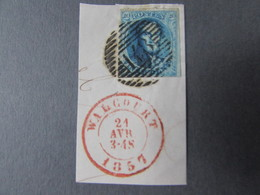 AFSTEMPELING - 1851-1857 Médaillons (6/8)