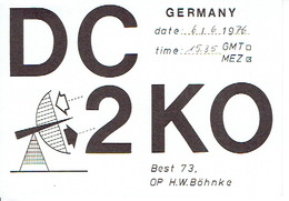 QSL - GERMANY - DC2KO - H.W. BÖHNKE - 1976 - Radio Amatoriale
