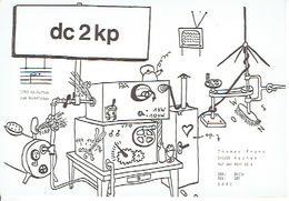 QSL - GERMANY - DC2KP - THOMAS FRANK - AACHEN - 1974 - Radio-amateur