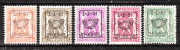 PRE609/13**  Petit Sceau De L'Etat - Année 1951 - Série Complète - MNH** - LOOK!!!! - Typo Precancels 1936-51 (Small Seal Of The State)