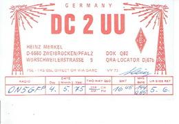 QSL - GERMANY - DC2UU - HEINZ MERKEL - ZWEIBRÜCKEN - 1975 - Radio Amatoriale