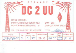 QSL - GERMANY - DC2UU - HEINZ MERKEL - ZWEIBRÜCKEN - 1975 - Radio-amateur