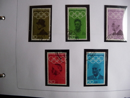 (OLYM1) DEUTSCHE BUNDESPOST SET FROM 5 USED 1968 OLYMPIC ZOMER GAMES . - Zomer 1968: Mexico-City