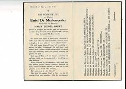 DP 10030 - EMIEL DE MEULEMEESTER - BAERT - ELSEGEM 1862 + OUDENAARDE 1946 - Images Religieuses