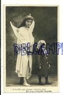 """Photographie. Ange Et Petite Fille .""""Bon Ange, Suivez Moi ..."""" 1907 - Anges"""