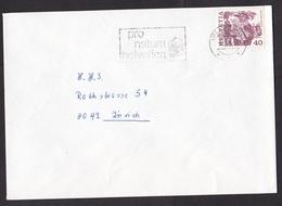 Switzerland: Cover, 1981, 1 Stamp, History, Cancel Swiss WWF, Panda Logo (traces Of Use) - Switzerland