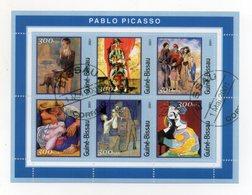 GUINEA BISSAU - 2001 - Foglietto Tematica  Arte - Picasso - 6 Valori - Con Doppio Annullo - (FDC19349) - Guinea-Bissau