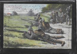 AK 0406  Vorhut Im Anschlag - Manöver Um 1914 - Manöver