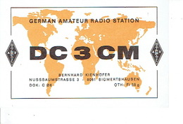 QSL - GERMANY - DC3CM - BERHARD LIENHÖFFER - SIGMERTSHAUSEN - 1978 - Radio-amateur