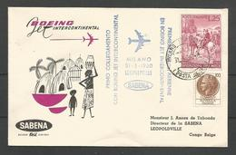 Aérophilatélie - Italie - Lettre 31/05/60 - Sabena Milano-Leopoldville Boeing - Spedizione Dei Mille - 1946-.. Republiek