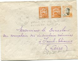 "INDOCHINE ENTIER POSTAL AVEC AFFR. COMPL. + ERREUR DE CAD "" SONG-CAM "" AU LIEU DE "" SONG-CAY "" DEPART SONG-CAM 12-4-28.. - Indochina (1889-1945)"