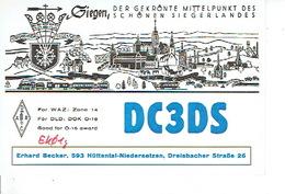 QSL - GERMANY - DC3DS - ERHARD BECKER - HÜTTENTAL-NIEDERSETZEN - 1975 - Radio Amateur
