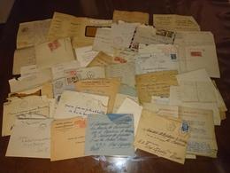 Lots De Courriers D'un Marin Lieutenant De Vaisseau Factures Année 40a50 - Vieux Papiers